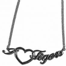 Missouri Tigers Heart Script Necklace