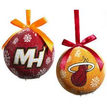 Miami Heat  LED Ball Ornaments Set of 6
