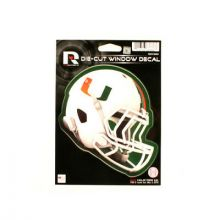 "Miami Hurricanes 6"" Helmet Die-Cut Window Decal"