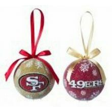 NFL Licensed LED Light-up Ornament Set of 2 (San Francisco 49ers)