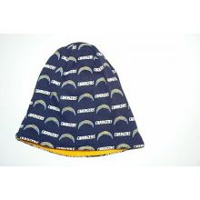 NFL San Diego Chargers Reversible Beanie White / All Over Print Beanie Hat CAp