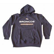 NFL Licensed Denver Broncos Navy Pullover Hooded Jacket (1X Big)