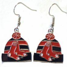 Boston Red Sox Tear Drop Logo Dangle Earrings