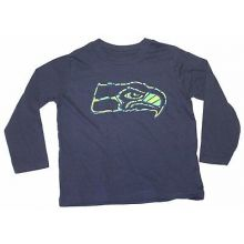 NFL Licensed Seattle Seahawks YOUTH Long Sleeve Team Colored Shirt (Small 8)
