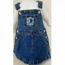 NBA Officially Licensed Dallas Mavericks Bib Overall Jean Skirt Dress (4T)