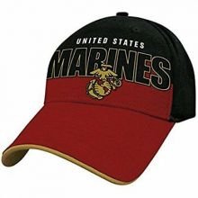 Officially Licensed Marines Block Logo Hat Cap Lid