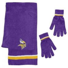 Minnesota Vikings Chenille Scarf & Glove Set