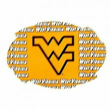 "West Virginia Mountaineers 5"" x 6"" Repeating Design Swirl Magnet"