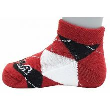 Alabama Crimson Tide Baby White Quarter Socks