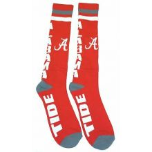 Alabama Crimson Tide Red and Black Ankle Tab Socks