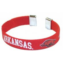 Arkansas Razorbacks Ribbon Band Bracelet