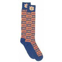 Auburn Tigers Checkerboard Dress Socks