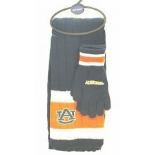 Auburn Tigers Knit Scarf and Glove Set