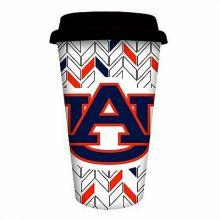 Auburn Tigers Personalizable Ceramic Travel Coffee Mug, 10 ounces, with Team Col