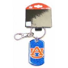 Auburn Tigers Glitter Dog Tag Keychain