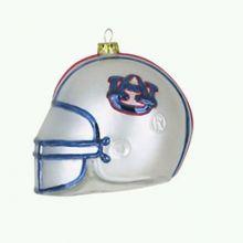 Auburn Tigers Glass Helmet Ornament