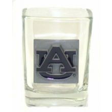 Auburn Tigers Pewter Logo Square 2 oz Shot Glass