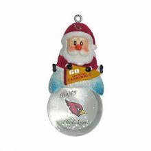 Arizona Cardinals Mini Snow Globe Ornament
