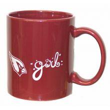 Arizona Cardinals Team Color Cardinals Girl 12oz Mug