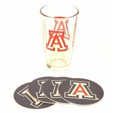Arizona Wildcats Pint and Coaster Set