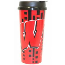 Wisconsin Badgers 16-ounce Insulated Travel Mug