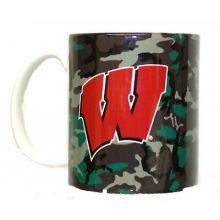 Wisconsin Badgers Camouflage 11oz Coffee Mug
