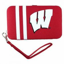 Wisconsin Badgers Distressed Wallet Wristlet