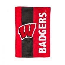 Wisconsin Badgers Embellish House Flag
