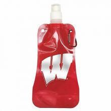 Wisconsin Badgers 16oz Foldable Water Bottle
