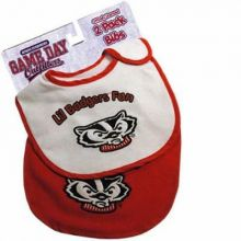Wisconsin Badgers 2 Pack Game Day Bib Set