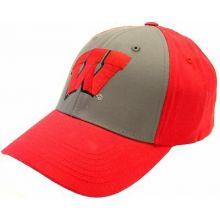 Wisconsin Badgers Gray Crown Adjustable Hat