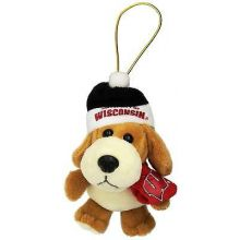 Wisconsin Badgers 4 inch Plush Dog Ornament