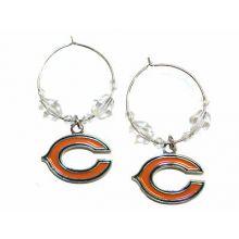 Chicago Bears Beaded Hoop Earrings