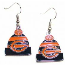 Chicago Bears Beanie Style Dangle Earrings
