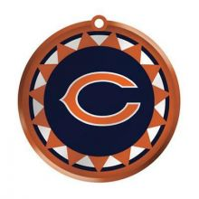 Chicago Bears Blown Glass Disk Ornament