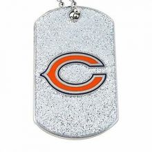 Chicago Bears Glitter Dog Tag Necklace