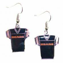 Chicago Bears Jersey Style Dangle Earrings