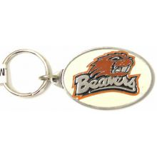 Oregon State Beavers Oval Carved Metal Keychain