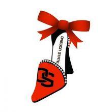 Oregon State Beavers High Heeled Shoe Ornament