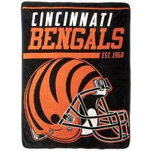 "Cincinnati Bengals 40 Yard Dash 46"" x 60"" Super Plush Throw"