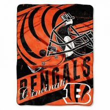 "Cincinnati Bengals  46"" x 60"" Deep Slant Super Plush Throw Blanket"