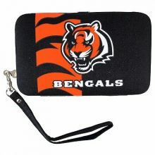 "Cincinnati Bengals Distressed Wallet Wristlet Case (3.5"" X .5"" X 6"")"