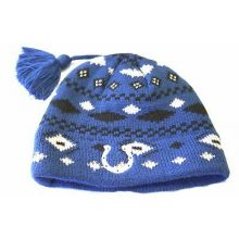 NFL Licensed Indianapolis Colts Diamond Tassel Knit Beanie