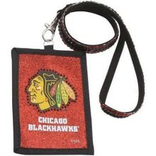 Chicago Blackhawks Beaded Lanyard I.D. Wallet