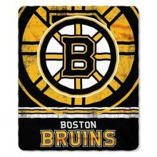 "NHL Officially Licensed Boston Bruins  Shadow Fleece Throw Blanket (50"" x 60"")"