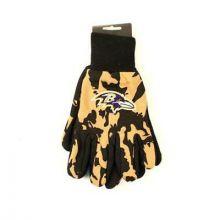 Baltimore Ravens Team Color Camo Utility Gloves