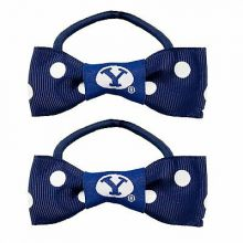 Brigham Young Cougars Bow Pigtail Holders