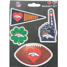 Denver Broncos 4 Pack Team Magnets