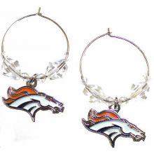 Denver Broncos Beaded Hoop Earrings