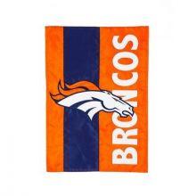 Denver Broncos Embellish House Flag